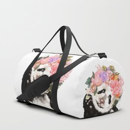 Baby Panda with Flowers Crown Duffle Bag