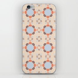 Blue Retro Tile iPhone Skin