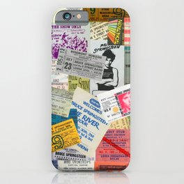 Concert Ticket Stub Backstage Passes - The Boss iPhone Case