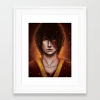 zuko Framed Art Prints featuring Zuko Portrait by Amourinette