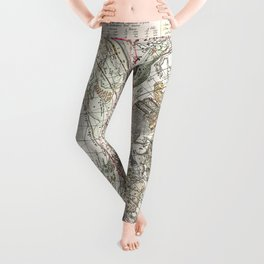 Star map of the Southern Starry Sky Leggings