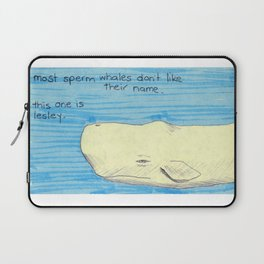 Lesley The Sperm Whale Laptop Sleeve