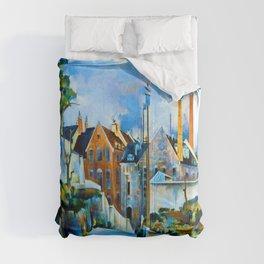 Preston Dickinson Street in Quebec Comforters