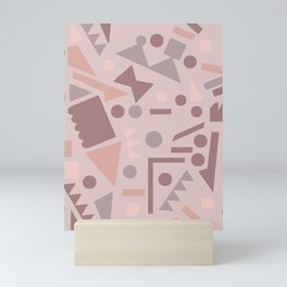 Shapes shift terrazzo Mini Art Print