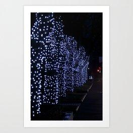 Christmas Blue Light Special Art Print