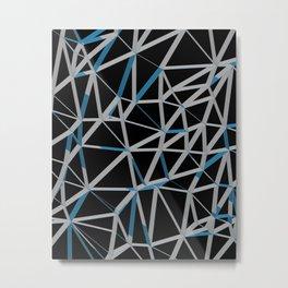 3D Futuristic GEO Lines III Metal Print