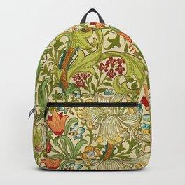 William Morris Golden Lily Vintage Pre-Raphaelite Floral Backpack