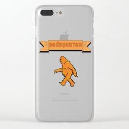 Sadsquatch Clear iPhone Case