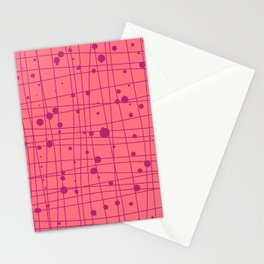 Woven Web pink Stationery Cards