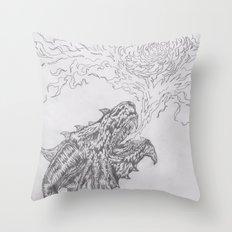 dragon fire artist Throw Pillow