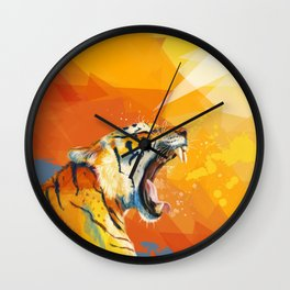 Tiger in the morning Wall Clock