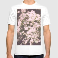 may flowers White Mens Fitted Tee MEDIUM