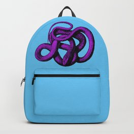 Snek 4 Snake Purple Blue Backpack