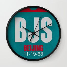 BJS Beijing Luggage Tag 1 Wall Clock