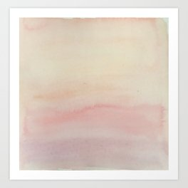 Ombre Blush Pink Watercolor Hand-Painted Effect Art Print