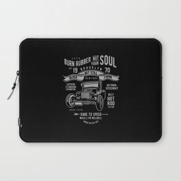 burn rubber not your soul Laptop Sleeve
