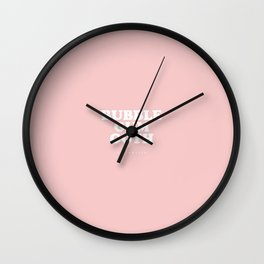 Bubble Gum Goth Wall Clock