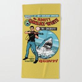 The Amity Great White Beach Towel