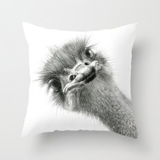 Cute Ostrich Expression SK055 Throw Pillow