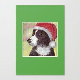 Santa Dog for Greeting Cards & More Canvas Print
