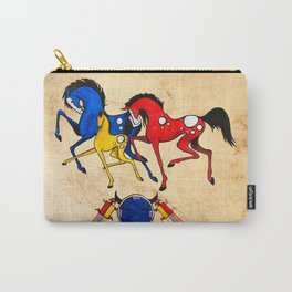 Navajo Horse Family Carry-All Pouch