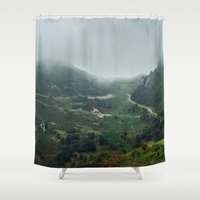 europe Shower Curtains featuring Peaks of Europe 2 by Svetlana Korneliuk