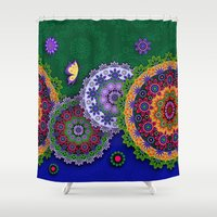 india Shower Curtains featuring Blooming India by Robin Curtiss