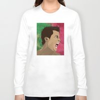 ronaldo Long Sleeve T-shirts featuring Cristiano Ronaldo by Pastran Designs