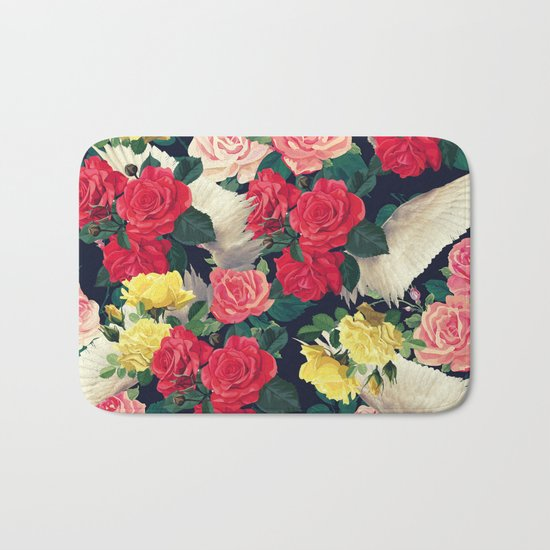 roses wings, tropical  Bath Mat