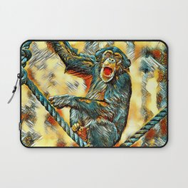 AnimalArt_Chimpanzee_20170901_by_JAMColorsSpecial Laptop Sleeve