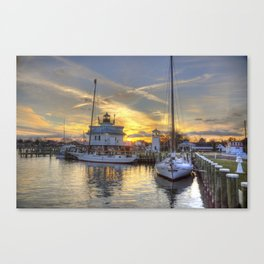 Dockside at St Michaels  Canvas Print