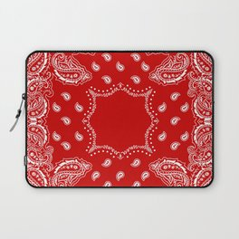 Bandana in Red & White Laptop Sleeve