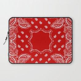 Bandana in Red & White Laptop Sleeve