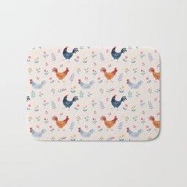 Little Hens (ivory) Bath Mat