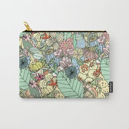 Nature Bloom Pattern Carry-All Pouch