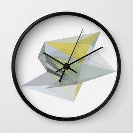 POLYTOPE OCHRE Wall Clock