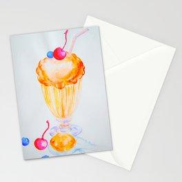 Orange Caramel Ice Cream Stationery Cards