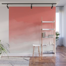 Living Coral Watercolor Ombre (Pantone Living Coral) Wall Mural