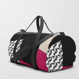 Patchwork black grey red Duffle Bag