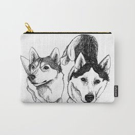 A Pair of Siberian Huskies Carry-All Pouch