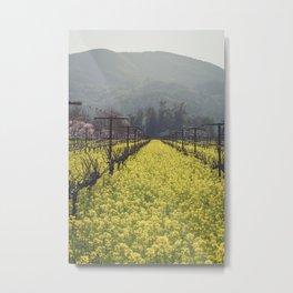 Mustard Field 1 Metal Print