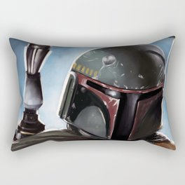 Boba Fett Art Portrait Rectangular Pillow