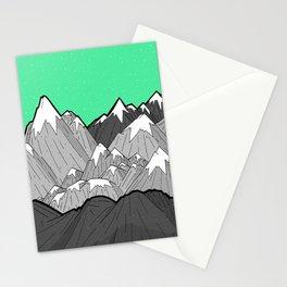 Green Sky Mounts Stationery Cards