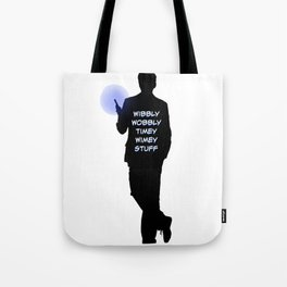 10th Doctor and his Sonic Screwdriver Tote Bag