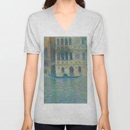 Venice Palazzo Dario (1908) by Claude Monet Unisex V-Neck