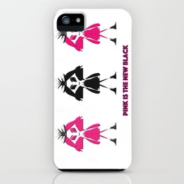 Pink Is The New Black iPhone Case