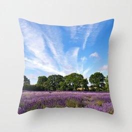 Lavender Fields near Selborne Throw Pillow