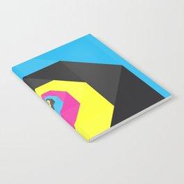 CMYK triangle spiral Notebook