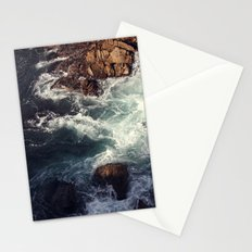 swirling current Stationery Cards