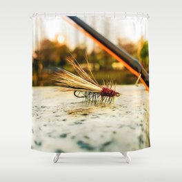 Caddis Fly Shower Curtain